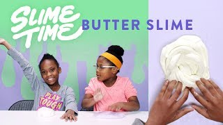 How To Make Butter Slime | Slime Time | HiHo