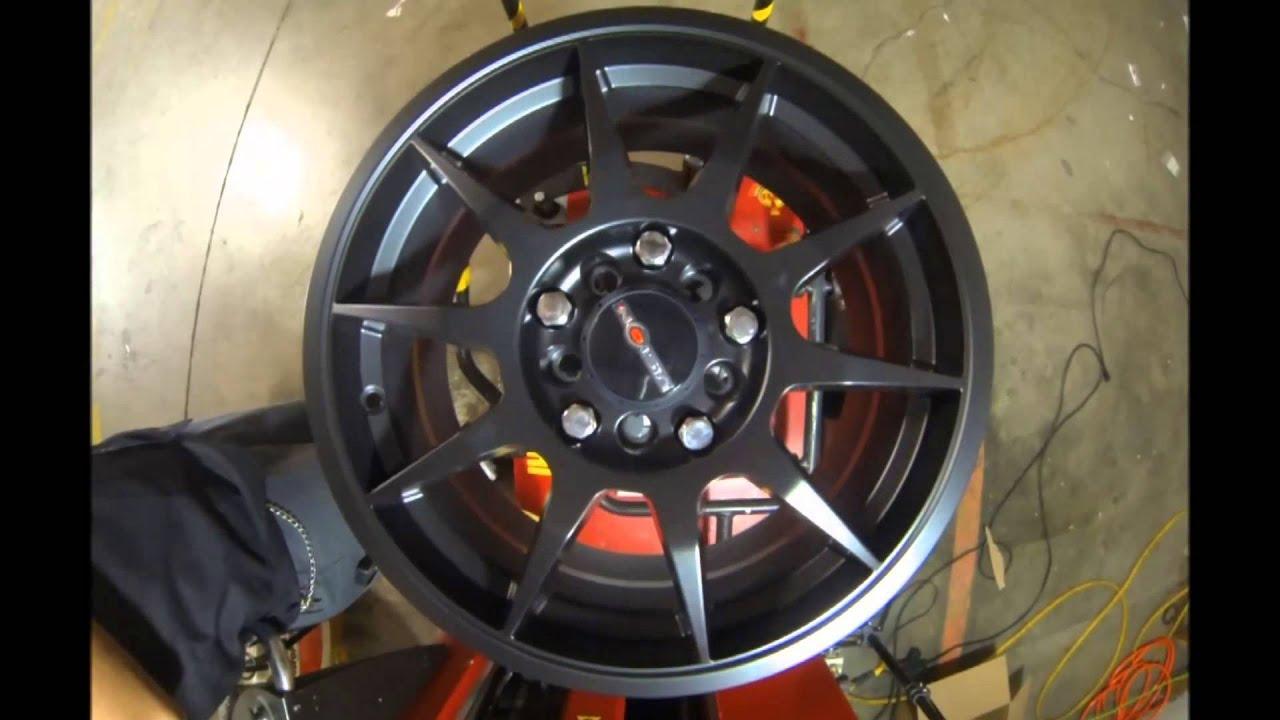Rims And Tires Canada >> Vision Wheels Venom 425 Matte Black - YouTube