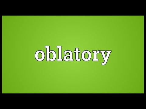 Header of oblatory