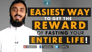 Easiest way to get the Reward of fasting your ENTIRE LIFE! – Abu Abdissalam