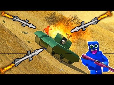 ВОЙНА КВАДРАТОВ видео для детей про сражение мульт героев на огромных локациях в игре Ravenfield