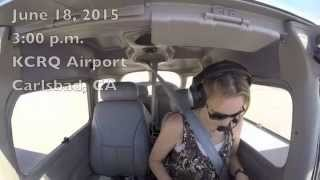 "KCRQ Solo Cross Country ""Practice Flight"" to Palm Springs"