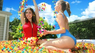 12 Million Gummy Bears In Hot Tub!
