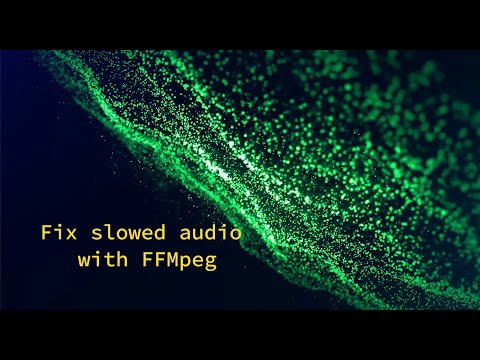 Fix slowed After Effects or Premiere Pro audio with FFmpeg