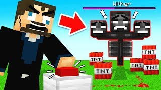 AUTO WITHER BOSS FARM! (Minecraft)