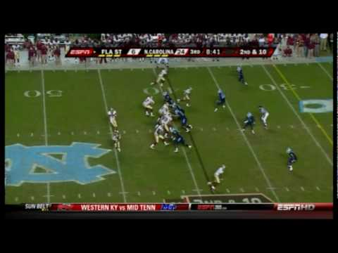 Florida State Seminoles vs North Carolina Tar Heels Highlights - 10/22/09 Video