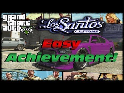 GTA 5 How To Get Los Santos Customs Easy Xbox Achievement PSN Trophy Fully Modified Car In GTA V!