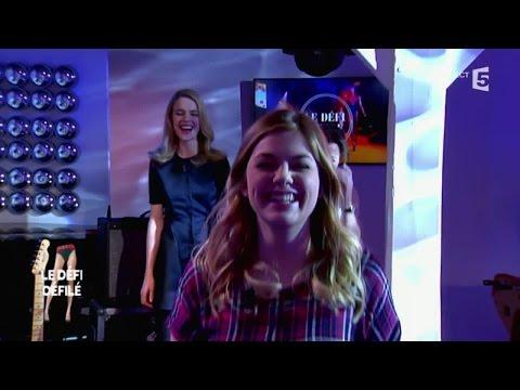 Louane et Natalia Vodianova : le défi défilé - C à vous - 02/03/2015