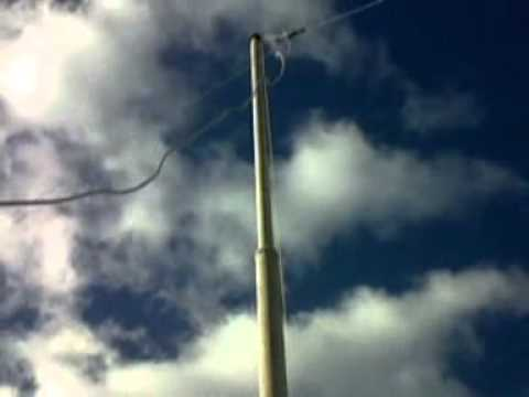 40 meter inverted V dipole on flagpole