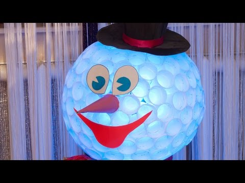 Как сделать снеговик из стаканчиков одноразовых - БашГеоСтандарт
