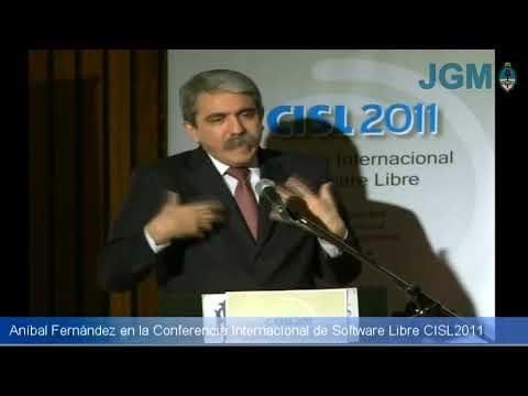 Anibal Fernandez en la Conferencia de Software Libre CISL 2011