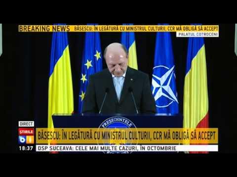Traian Basescu, prima declaratie dupa alegerile prezidentiale