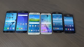 Samsung Galaxy S7 vs. S6 vs. S5 vs. S4 vs. S3 vs. S2 - Benchmark Speed Test!