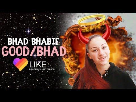 Danielle Bregoli is BHAD BHABIE reacts and roasts LIKE app vids thumbnail