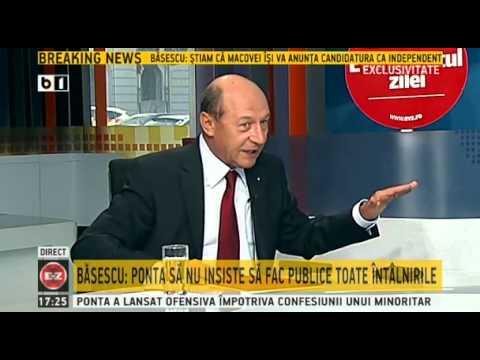 Traian Basescu: Ponta e un politician mai slab ca mine