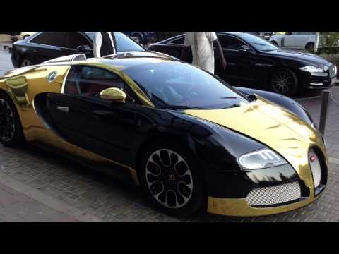 Golden Bugatti Veyron Grand Sport From Saudi Arabia