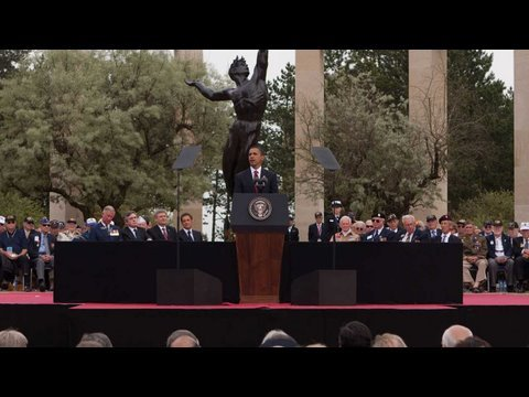 President Obama Marks the 65th D-Day Anniversary