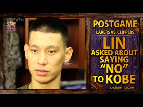 Lakers vs. Clippers: Jeremy Lin Asked About Saying 'No' To Kobe Bryant
