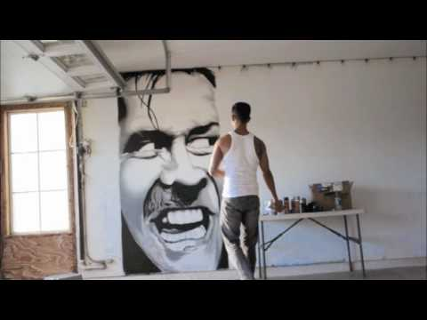SEZE x Spray paint portrait of Jack Nicholson in The Shining