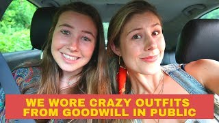 CRAZY GOODWILL OUTFITS IN PUBLIC   DRAMATIC