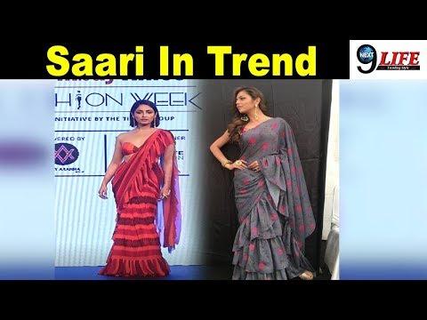 Bollywood से लेकर TV तक छाई Frill Work Design Saree | Most Trending Saree