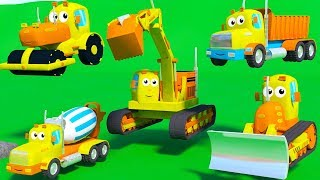 MIGHTY MACHINES CONSTRUCTION SONG FOR KIDS WITH DUMP TRUCK BULLDOZER EXCAVATOR