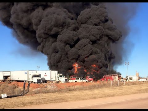 Grady County Fire Department Oil Well Fire | Chickasha Grady County Oklahoma