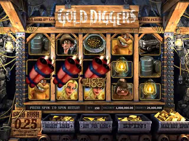 3D Slot Gold Diggers by BetSoftGaming.com