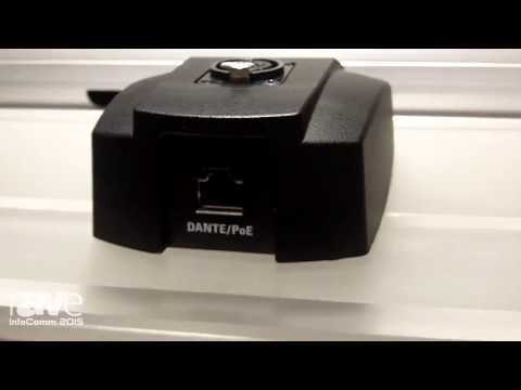 InfoComm 2015: Audio-Technica Shows the ATND8677 Microphone Desk Stand with Dante Network Output