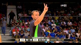FIBA World Cup 2014 Round of 16 Greece vs Serbia