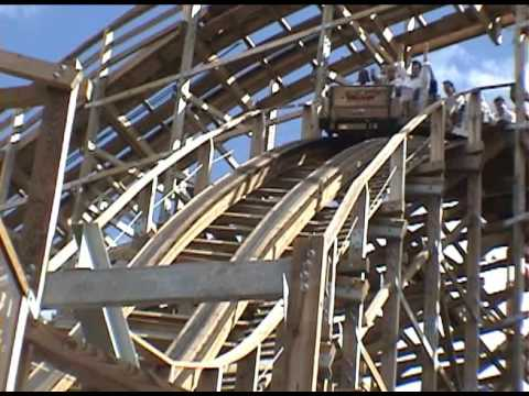 Boardwalk Bullet Wooden Roller Coaster POV - Kemah Boardwalk, Houston, TX