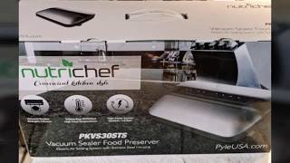Nutrichef PKVS30STS by Pyle (Food Vacuum Sealer) Review