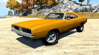 BeamNG Mod : 1969 Dodge charger RT (Crash test) Family Videos US