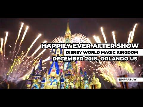 Happily Ever After Show - Disney World Magic Kingdom - December 2018