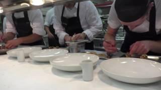 Service at the 3 Michelin star restaurant Aqua