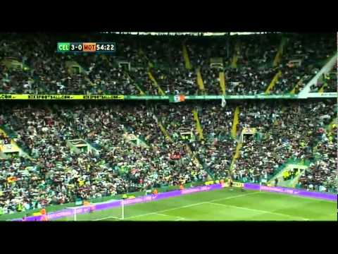 58,000 Celtic Fans doing the Huddle