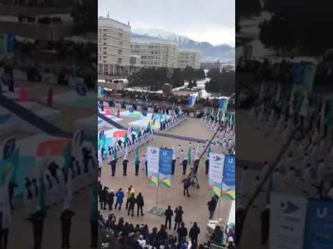 Универсиада 2017, Алматы, КазНУ имени Аль-Фараби начало.Universiade 2017 Almaty, Kazakh NU