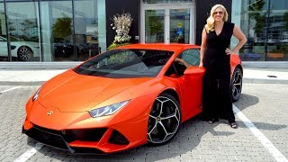DRIVING the NEW HURACAN EVO in Arancio Xanto & Walkthrough!!!