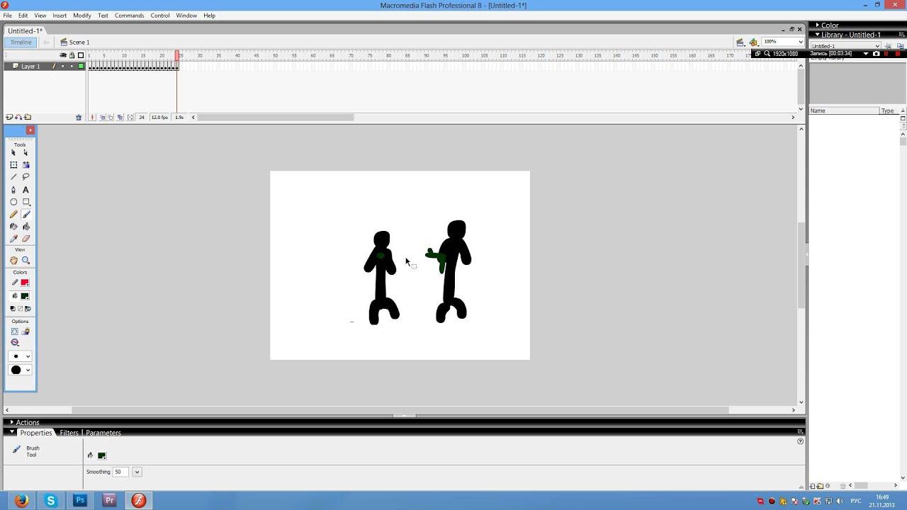 Macromedia flash 8 t сделать мультфильм