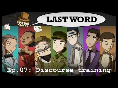 Pasta plays Last Word Ep07: Discourse training *** Blind playthrough and Gameplay - Rpg Maker