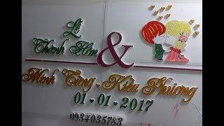Cắt chữ xốp đám cưới 0934.0357.83