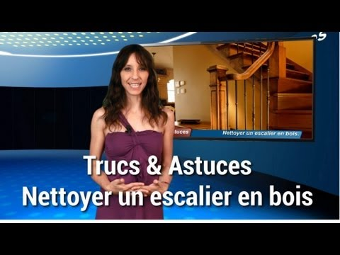 trucs et astuces nettoyer un escalier en bois youtube. Black Bedroom Furniture Sets. Home Design Ideas