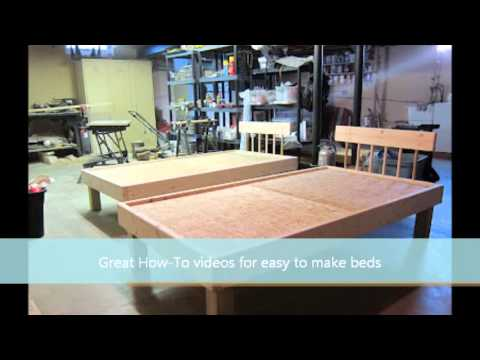 made by wood: Ideas Simple wood bed frame plans
