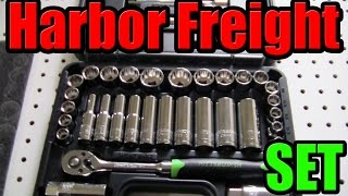 Harbor Freight 35 Pc 3/8 in. Drive SAE & Metric Socket set Unboxing