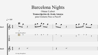 Barcelona Nights Ottmar Liebert Tablatura Por Jesús Amaya