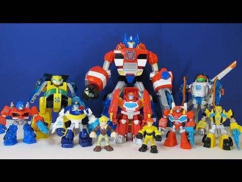 Opening 8 Transformers Rescue Bots Playskool Heroes