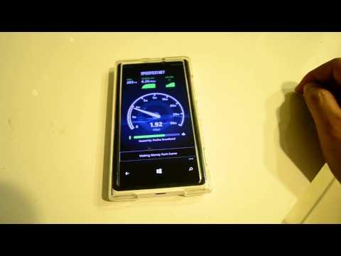 Straight Talk AT&T Wireless 4G LTE Speed Test on Nokia Lumia 920 (Pomona. CA)