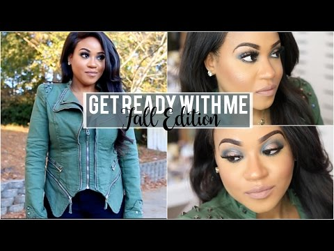 Get Ready With Me   Fall Edition: Bold Makeup. Hair + Outfit