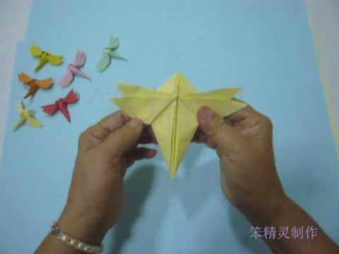 Стрекоза оригами Origami-blog.