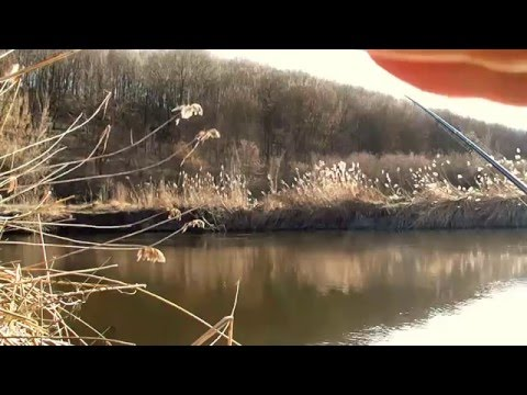 рыбалка на фидер весной на малой реке видео